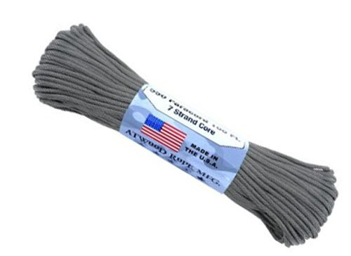 100 feet of paracord in grey - 9