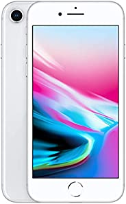 Apple iPhone 8 (256GB, Silver) [Locked] + Carrier Subscription
