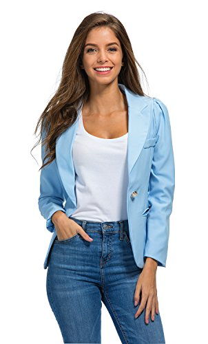 light blue blazer - 8