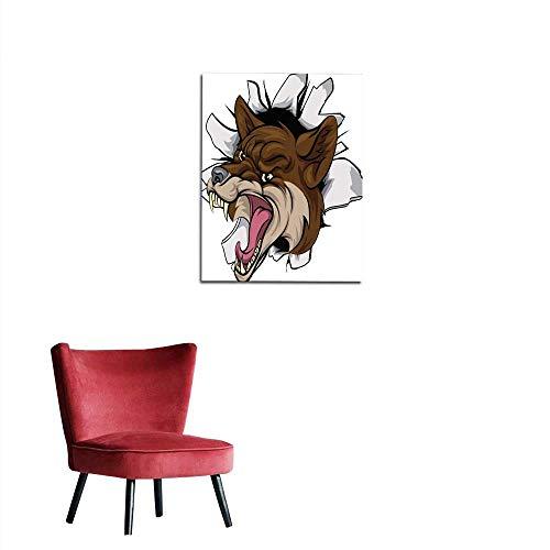 (longbuyer Photographic Wallpaper Coyote Mascot Break Out Mural 20