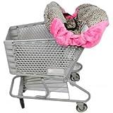 "Shopping Cart Cover ""Tan Cheetah/ Hot Pink"