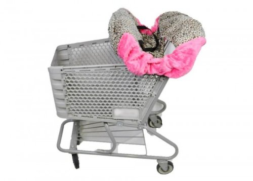 "Shopping Cart Cover""Tan Cheetah/Hot Pink"