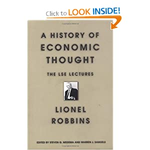A history of economic thought Lionel Robbins, London School Of Economics, Political Science, Steven G. Medema, Warren J. Samuels