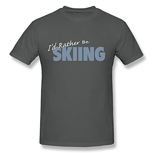 KEMING Men's I'd Rather Be Skiing T-shirt XXL
