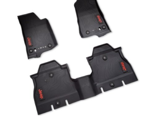 (2018 New Jeep Wrangler JL 4-Door All Weather Floor Mats)