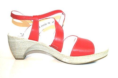 Think! - Sandalias de vestir de cuero para mujer - Rot (himbeere/kombi 74)