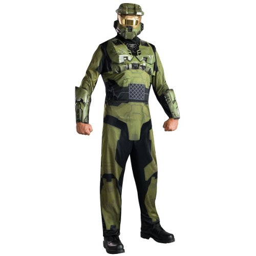 Halo 3 Master Chief Adult Costumes - Halo Master Chief Costume, Green, X-Small