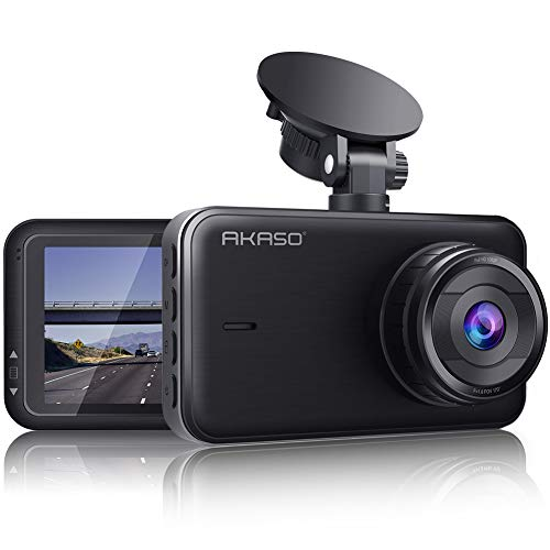 AKASO Dash Cam 1080P FHD 3 Inches IPS Screen, DVR Car Dash Camera Recorder with 170 Degrees Wide Angle, Built in Loop Recording, Parking Monitor, G-Sensor, WDR, Night Vision