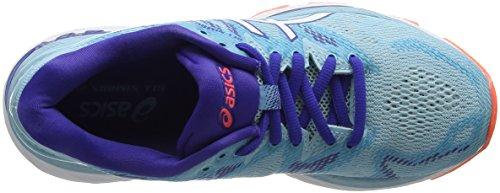 Asics Gel-Nimbus 20, Zapatillas de Running Para Mujer Turquesa (Porcelain Blue/Whiteasics/Blue 1401)