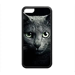 Cute Gray Cat In Dark Phone Case for iPhone 5 5s