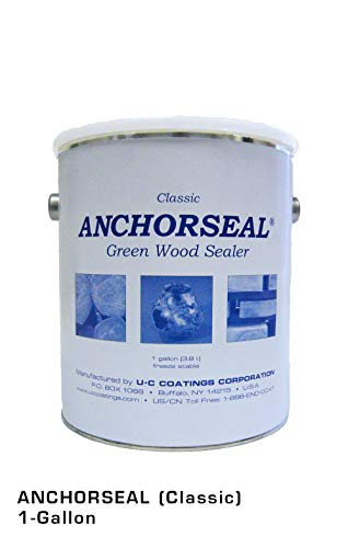 ANCHORSEAL Classic Log & Lumber End Sealer - Water Based Wax Emulsion, Prevents up to 90% of End Checking on Cut Ends of Hardwood & Softwood ... (1 Gallon)