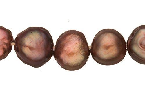 Dark Spectrum Purple Freshwater Cultured Pearls Natural Half Potato, C+ Graded, 6xx4x6mm (Approx.), 15.5Inch Strings/58Pearls ()