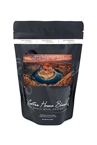 Horseshoe Bend  Arizona  8Oz Whole Bean Small Batch Artisan Coffee   Bold   Strong Medium Dark Roast W  Artwork