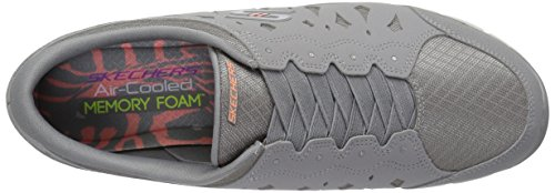 Women Heart Sneaker Gratis Memory Gray Foam Light Flex 22771 On Skechers Slip OIRqx