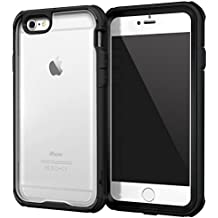 iPhone 6s Case, roocase [Glacier TOUGH] iPhone 6 (4.7) Hybrid Scratch Resistant Clear PC / TPU Armor Full Body Protection Case Cover with Built-in Screen Protector for Apple iPhone 6 / 6s (2015), Granite Black