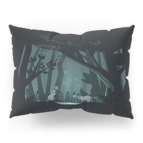 AFJFICQ Chasing Fireflies Pillow Sham Standard 18 X 18 in Decorative Pillowcase Warm -