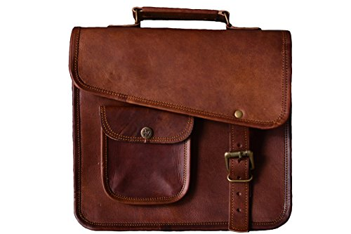 Urban Dezire Men's Genuine Leather Small Briefcase Messenger Satchel Ipad Tab Tablet Bag 11 Compatible with Apple Product
