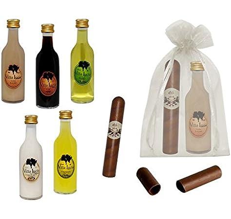 Lote de 15 Botellas de Licores Sol con Puros de Chocolate en Bolsas de Tull Lisas. Detalles de Bodas y Eventos.: Amazon.es: Hogar
