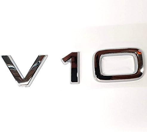 Ctronic ala parafango anteriore posteriore V10/argento cromato lucido stivali di logo emblema adesivo adesivo HB5R1