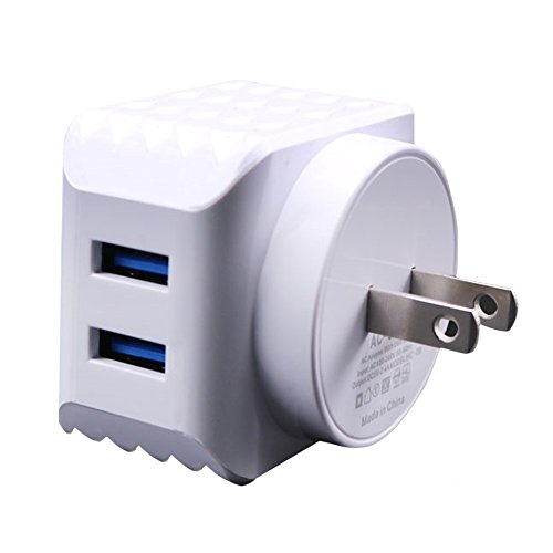 Hanghs 24W 4.8A Wall Charger 2-Port USB Travel Charger with Smart Charge Technology for iPhone 6s, 6 Plus, iPad Pro / Air / Mini, Galaxy S7 S6 Edge and More White (Psp Replacement Speakers)