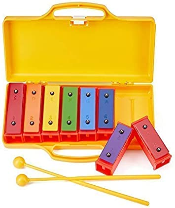 US 10Pcs Wooden Toddler Musical Percussion Xylophone Musical Instrument Toy Band
