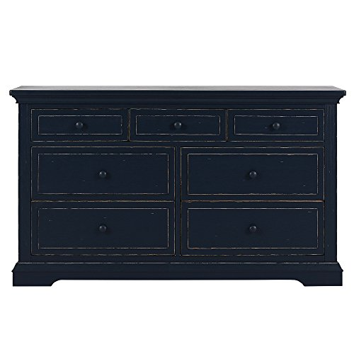 Price comparison product image Evolur Parker double dresser,  Distress Navy