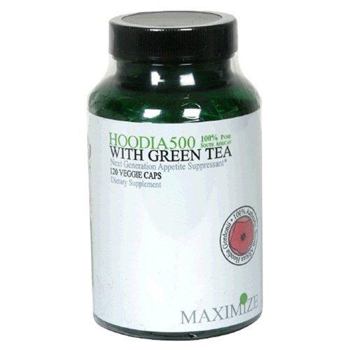 MAXIMUM INTERNATIONAL HOODIA 500 W/GREEN TEA, 120 VCAP
