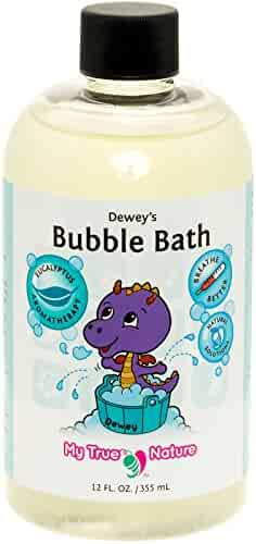 Natural Baby Bubble Bath - Dewey's Bubble Bath for Sensitive Skin - Eucalyptus, 12 oz