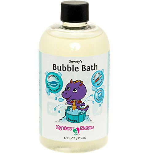 Natural Baby Bubble Bath - Dewey's Bubble Bath for Sensitive Skin - Eucalyptus, 12 oz by My True Nature