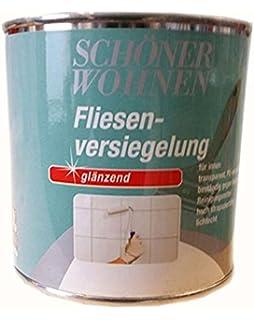L Fliesenlack Wand In KLAR Fliesen Lackieren Badfliesen Streichen - Matte fliesen glänzend lackieren