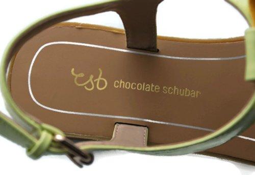 Schubar femme Eira Vert Sandales Chocolate Citron dRxUTqdw4