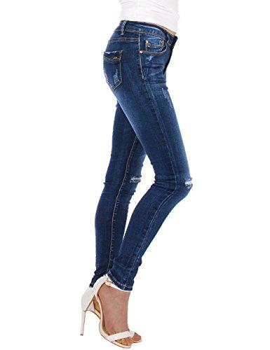 Jeans Blu Strappati Skinny Donna Fraternel v0wxfw