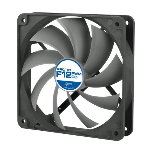 Arctic F12 120mm PWM Controlled Dual Ball Bearing Standard Case Fan (Black)