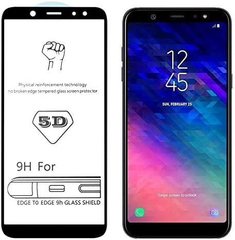 Screen Protector Protective 25 PCS 9H 5D Full Glue Full Screen Tempered Glass Film for Galaxy A6+ 2018 Glass Film