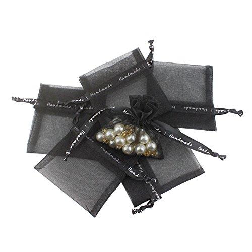 ACTLATI 10pcs Sheer Thicken Organza Drawstring Gift Bags Can