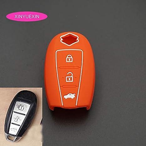 SILICONE SUZUKI CAR SMART KEY COVER CASE SWIFT KIZASHI