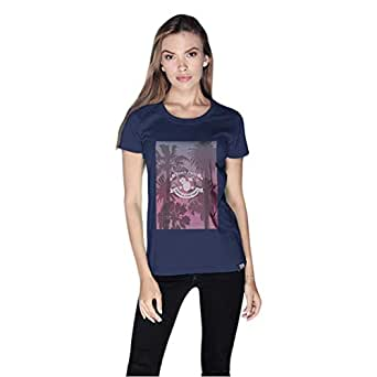 Creo Beach Party T-Shirt For Women - S, Navy Blue