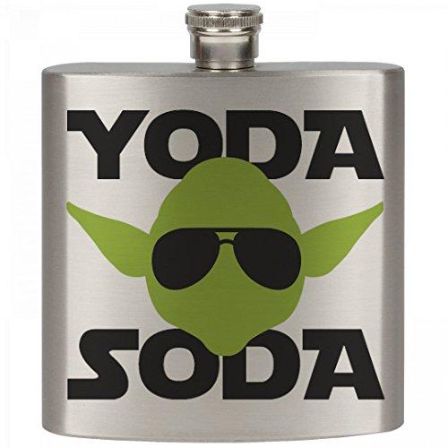 Yoda Soda Party Animal: 6oz Stainless Steel - Yoda In Sunglasses