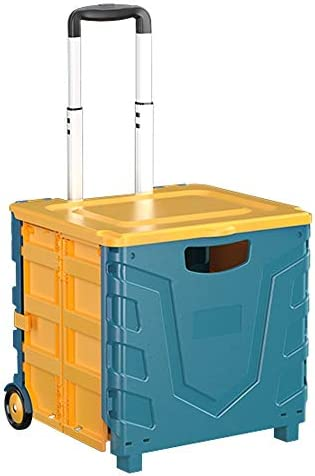 カーオーガナイザートランク ふた付きのストレージビン - 折り畳み式のトランク収納ボックス付きトロリー、キャンプアウトドアホームの使用に適し - 38x35x36cm -カーアクセサリー (Color : A)