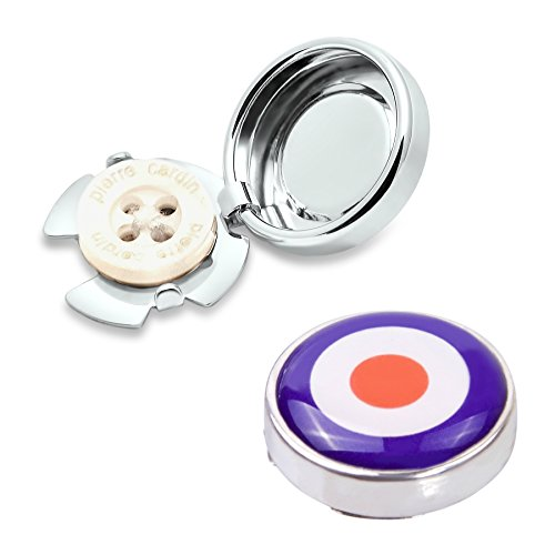 Shirt Dress Target (Target Button Covers - Cuff Link Alternative for Shirts, Cuffs and Collars (CS-tar US))