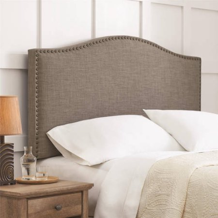 Better Homes and Gardens Upholstered Headboard in Multiple Colors and Sizes (Gray Full/Queen) (Homes Garden Better And Headboard)