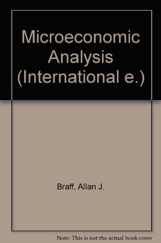 Braff Microeconomic Analysis