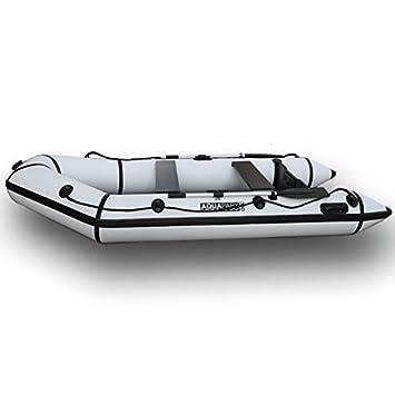 AQUAPARX Rib 230 lancha* Bote de Goma con remos Bote Deportivo balsa Hinchable Bote de Motor Bote Hinchable a Motor.