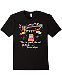 Happy Birthday From Your Wife Card+Banner+Cake+Balloons