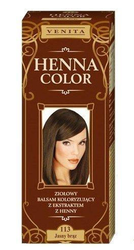 Henna Color 113 Leicht Braun Haarbalsam Haarfarbe Farbeffekt Naturhaarfärbemittel Henne Öko