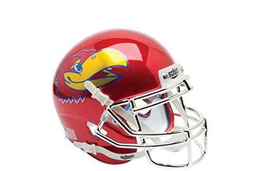 - NCAA Kansas Jayhawks Red Chrome Replica Helmet, One Size