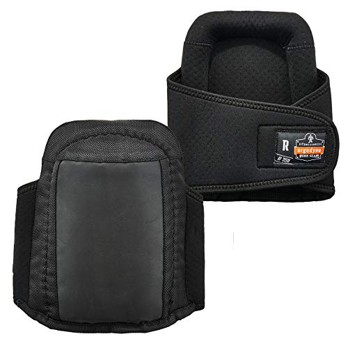 Gel Knee Proflex Pads (Ergodyne ProFlex 350 Protective Slip-Resistant Knee Pads, Gel Foam Padded Technology, Adjustable Straps, Black)