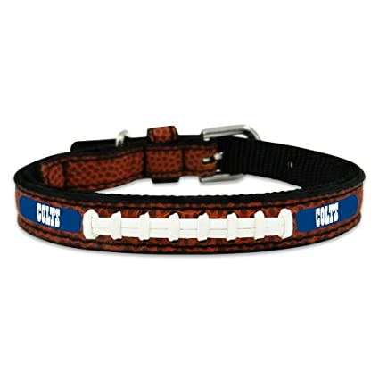 Amazon.com  NFL Indianapolis Colts Classic Leather Football Collar ... bee5dcfbd