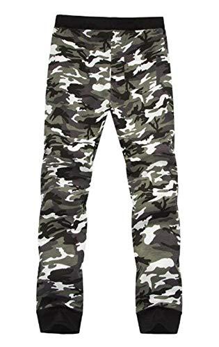 Deportivos Slim Con Camuflaje Elástica Cintura Casuales Cordón Cómodo Colores Ajustable Pantalones Los Grau Fit Hombres De Battercake 5pRwqYW