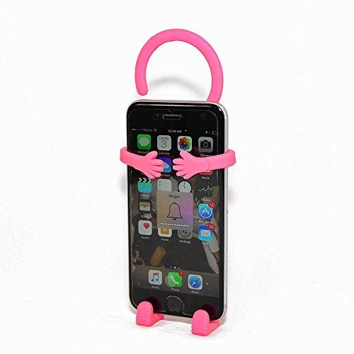 Bondi Silicon Flexible Cell Phone Holder, (Pink)